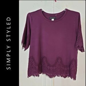 Simply Styled Tops - Simply Styled Woman Stretch Blouse Size XL Violet